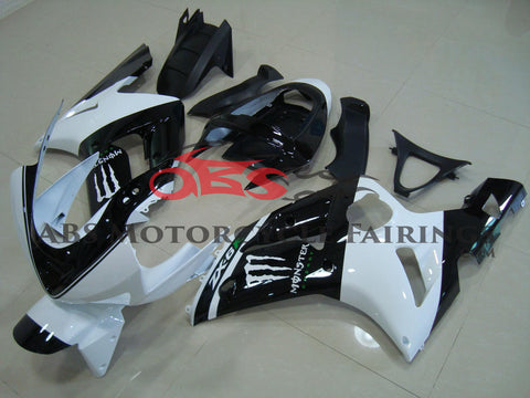 Monster White & Black 2003-2004 Kawasaki ZX-6R 636