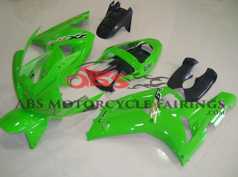 All Green 2003-2004 Kawasaki ZX-6R 636