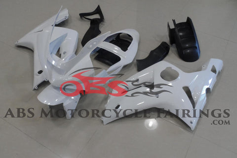 All White 2003-2004 Kawasaki ZX-6R 636