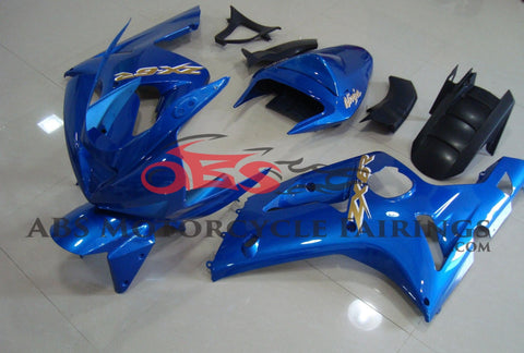 All Blue Fairing Kit for 2003-2004 Kawasaki ZX-6R 636