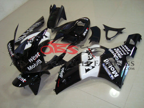West Ninja Black & White 2003-2004 Kawasaki ZX-6R 636