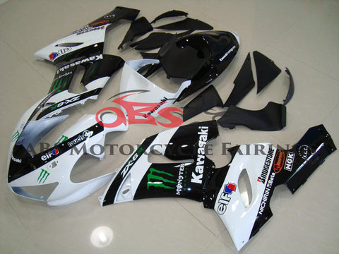 Monster Elf Black & White 2005-2006 Kawasaki ZX-6R 636
