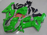 Lime Green & Black 2005-2006 Kawasaki ZX-6R 636