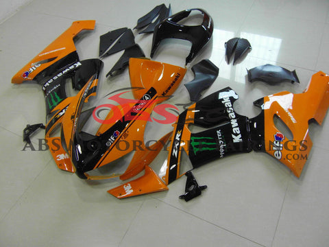 Monster Elf Orange & Black 2005-2006 Kawasaki ZX-6R 636