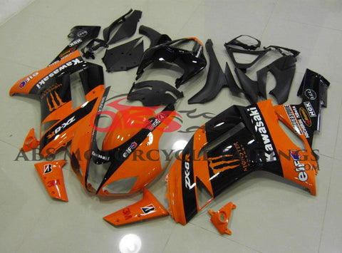 Monster Orange & Black 2007-2008 Kawasaki ZX-6R 636