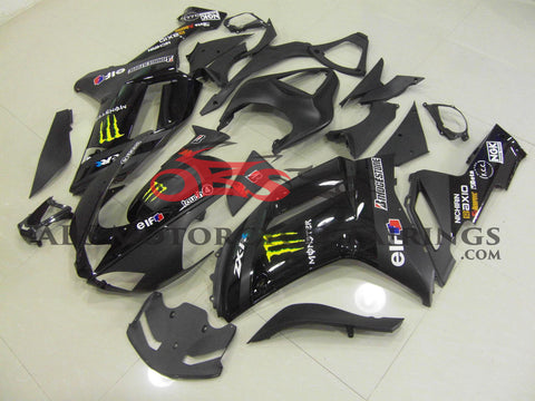Monster Black 2007-2008 Kawasaki ZX-6R 636