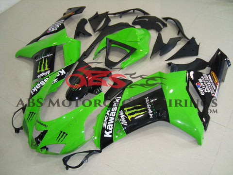Monster Green & Black 2007-2008 Kawasaki ZX-6R 636