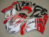 Kawasaki Ninja ZX6R 636 (2007-2008) White & Red Monster Energy Fairings