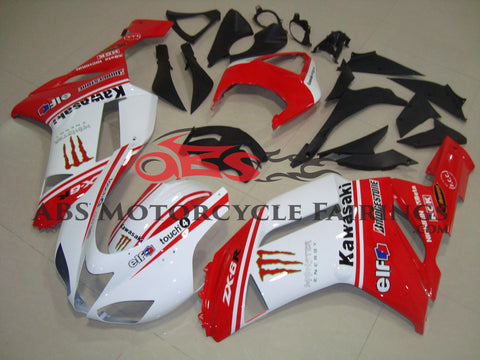 Monster Touch Red & White 2007-2008 Kawasaki ZX-6R 636