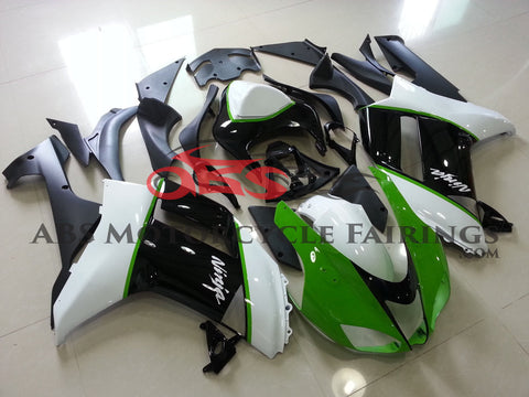 Green White & Black 2007-2008 Kawasaki ZX-6R 636