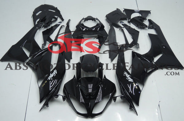 Black Fairing Kit for a 2009, 2010, 2011 & 2012 Kawasaki Ninja ZX-6R 636 motorcycle.  Bike Model: Kawasaki Ninja ZX-6R 636 Year: 2009-2012 Mold Type: OEM-Grade Injection Molding Perfect 100% OEM Fitment Pre-Drilled Bolt Holes for Easy Installation 7-Step Professional Paint Application Free Lower Fairing Heat Shield Included Interested in Customizations or alternative Paint Colors? Please contact our Support Team!