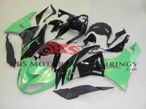 Metallic Green & Black 2009-2012 Kawasaki ZX-6R 636