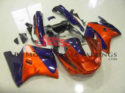 Orange & Blue Fairing Kit for 1993-2001 Kawasaki ZZR1100 D Model
