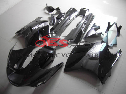 Black & Grey Fairing Kit for 1990-1992 Kawasaki ZZR1100 C Model