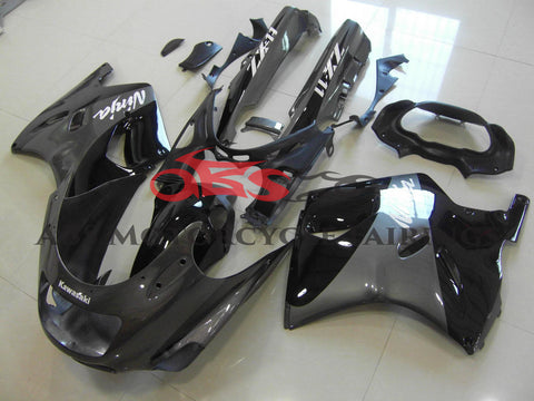 Black & Grey Fairing Kit for 1993-2001 Kawasaki ZZR1100 D Model