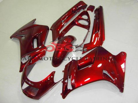 All Gloss Red Fairing Kit for 1990-2009 Kawasaki ZZR250