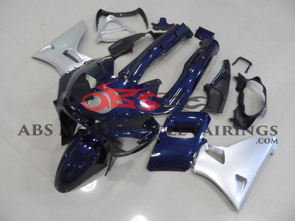 Dark Blue & Silver Fairing Kit for 1993-2007 Kawasaki ZZR400