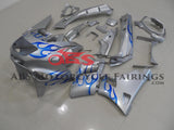 Kawasaki ZZR400 (1993-2007) Silver & Blue Flame Fairings