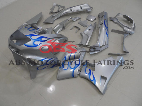 Silver with Blue Flame 1993-2007 Kawasaki ZZR400