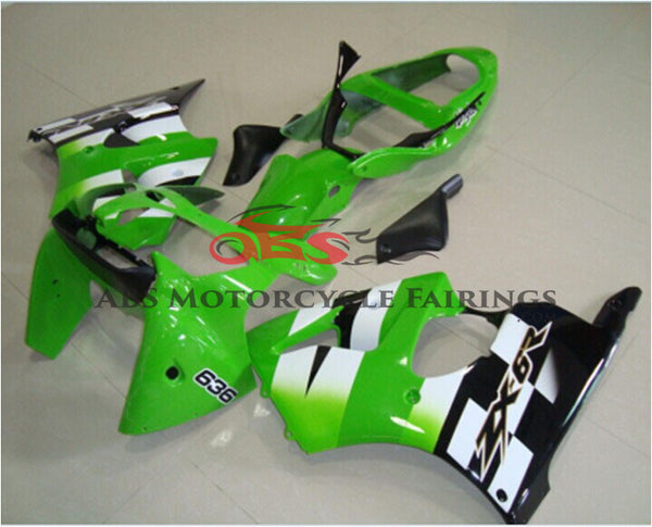 Green White & Black 2005-2008 Kawasaki ZZR600