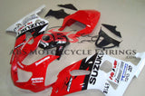 Red, White and Black Fairing Kit for a 2000, 2001, 2002 & 2003 Suzuki GSX-R750 motorcycle