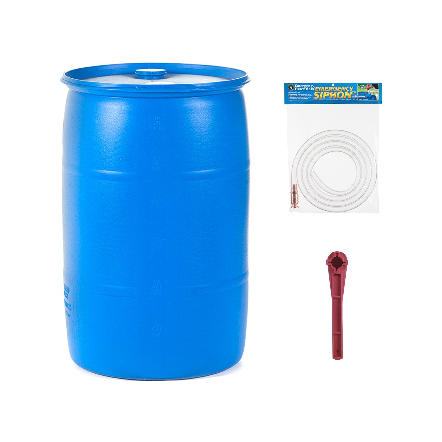 30 Gallon Water Barrel Combo