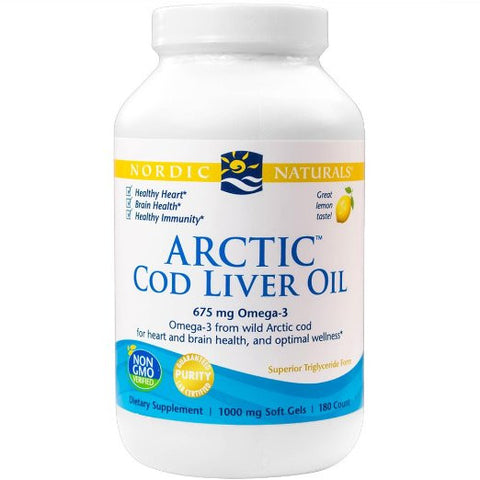 Arctic CLO, Heart and Brain Health, and Optimal Wellness, 180 Soft Gels
