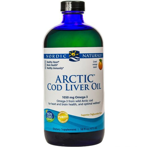 Arctic CLO, Heart and Brain Health, and Optimal Wellness, Orange 16 Ounces