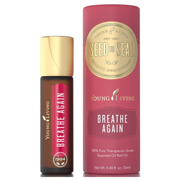 Young Living Breathe Again 10 ML Blend Roll On 100 % Therapeutic Grade Essential Oil Supplement