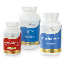 Young Living Cleansing Trio Kit includes Essentialzyme, ComforTone, and ICP