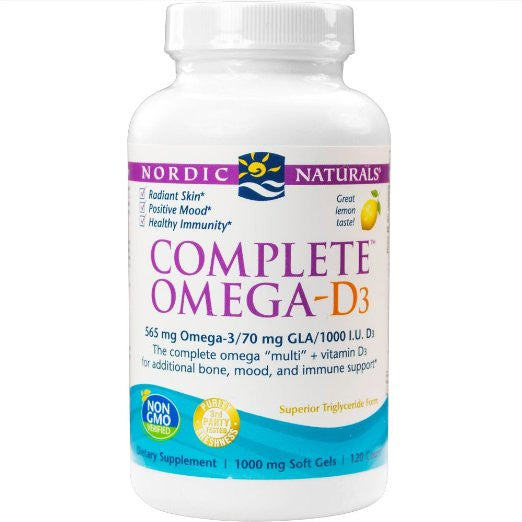 Complete Omega-D3, Additional Bone, Mood, and Immune Support, 120 Soft Gels
