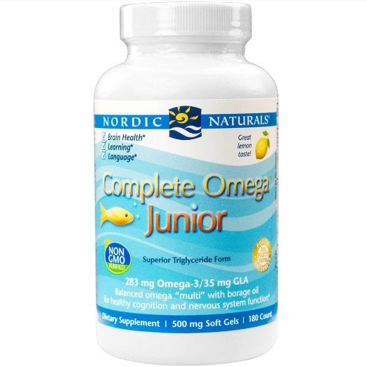 Complete Omega Junior, Promotes Brain, Bone, and Nervous and Immune System Health, 180 Soft Gels