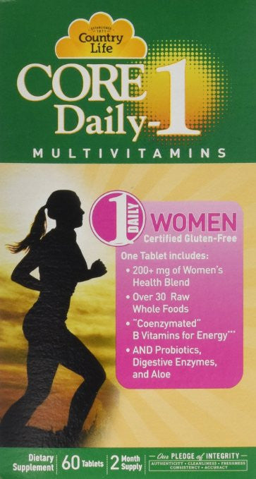 Country Life Core Daily 1 for Women Tablets, 60 Count