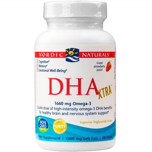 DHA Xtra, Healthy Brain and Nervous System Support, 60 Soft Gels
