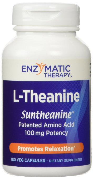 Enzymatic Therapy L-Theanine -- 180 Vegetarian Capsules