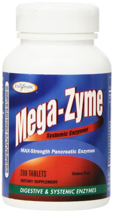 Enzymatic Therapy Mega-zyme, 200 Tablets