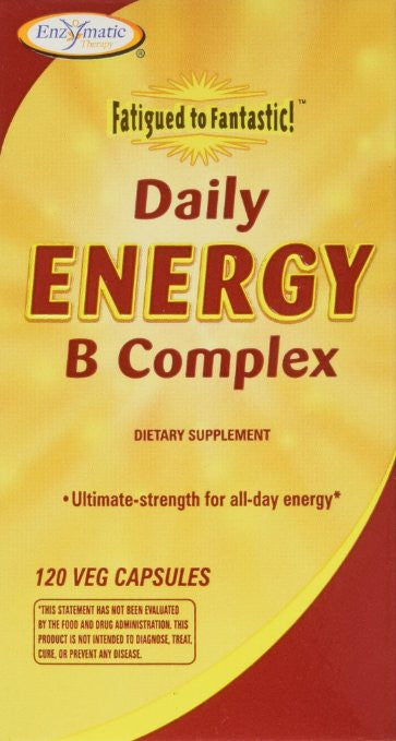 Fatigued to Fantastic Daily Energy B Complex Enzymatic Therapy Inc. 120 Caps