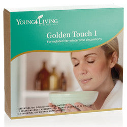 Young Living Golden Touch 1 Kit 7 - 5 ML Bottles Di-Gize, EndoFlex, JuvaFlex, Melrose, Raven, and R.C.