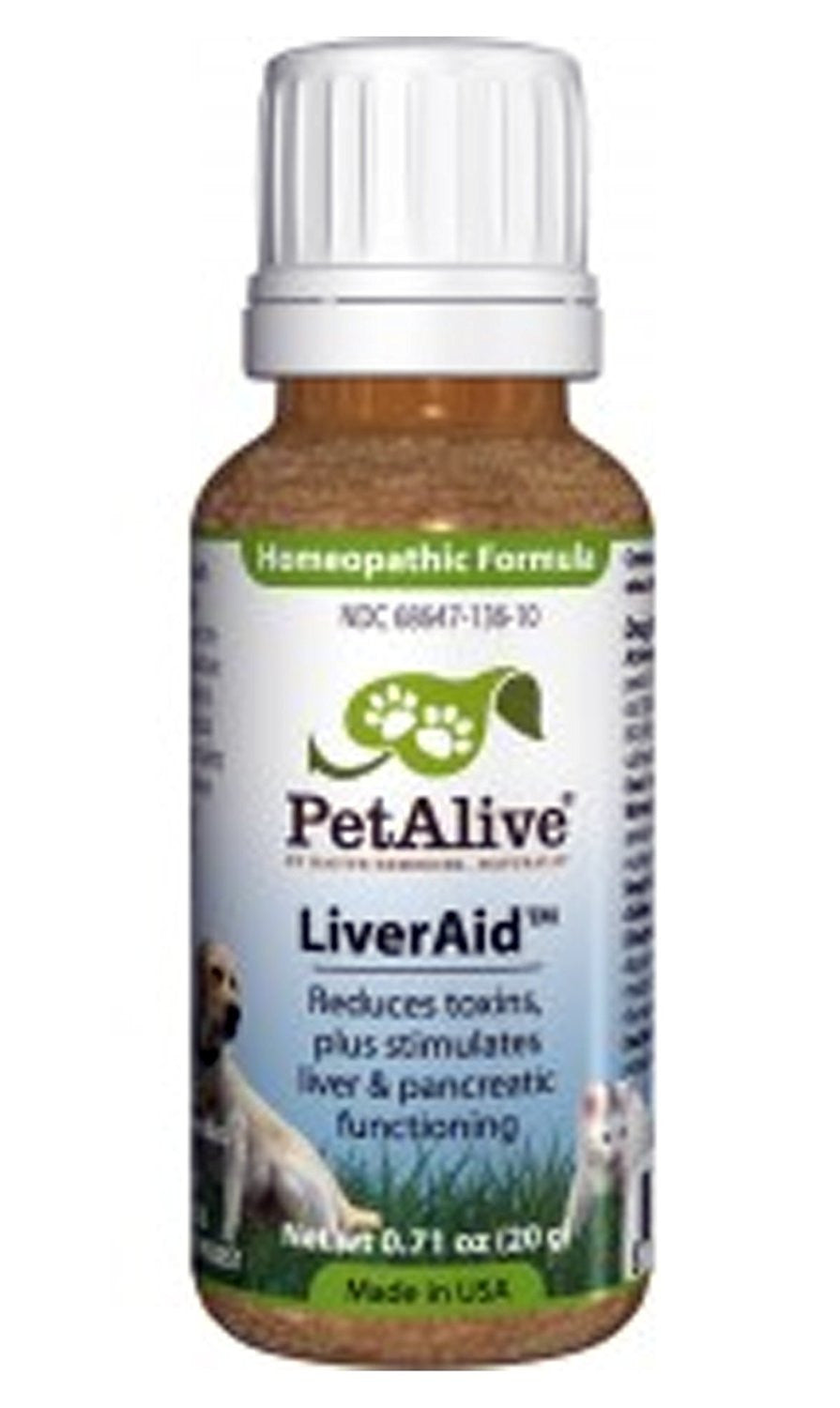 Natural LiverAid - Natural remedy supports liver, pancreas, and gallbladder health in pets