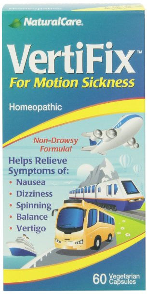 Naturalcare Vertifix for Motion Sickness, 60 Vegetarian Capsules