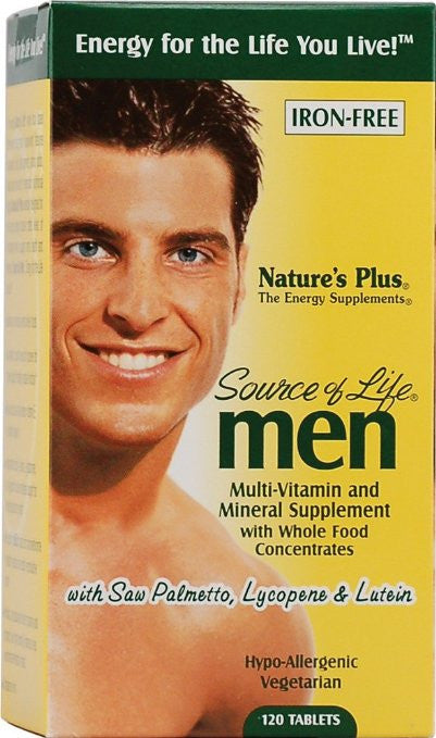 Nature's Plus Source Of Life Men's Multi-Vitamin - 120 TABLETS