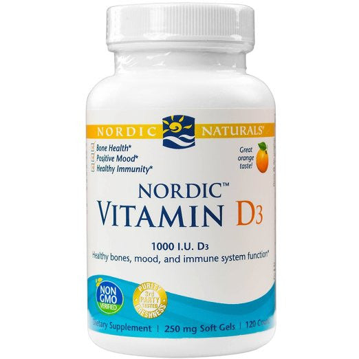 Nordic Vitamin D3, Healthy Mood, Immune Function, Bone Health, 120 Soft Gels