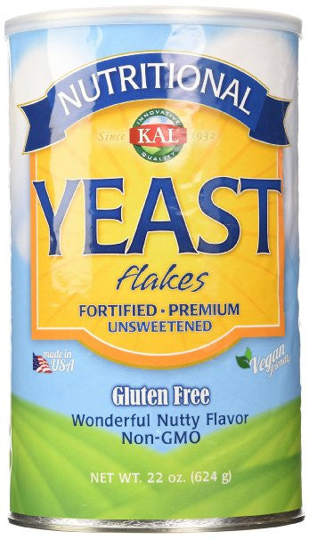 Nutritional Yeast Flakes Kal Unsweetened Wonderful Nutty Flavor 22 oz
