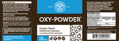 Oxy Powder Safe and Natural Colon Cleanser in 120 capsule bottle