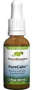 Native Remedies Pure Calm Herbal calming supplement for naturally soothed nerves and a relaxed mood.  2 FL Oz Bottle