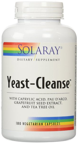 Solaray - Yeast Cleanse, 180 capsules