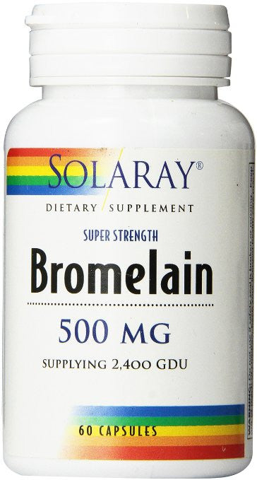Solaray Bromelain Supplement, 500mg, 60 Count