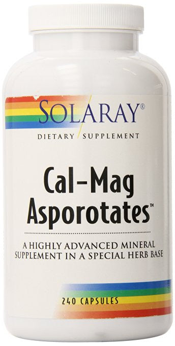 Solaray Calcium and Magnesium Asporotate Capsules, 240 Count