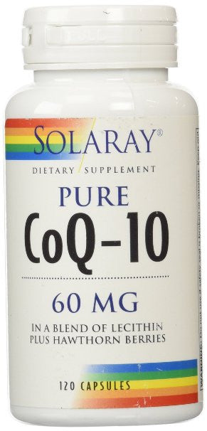 Solaray CoQ10 Capsules, 60 mg, 120 Count