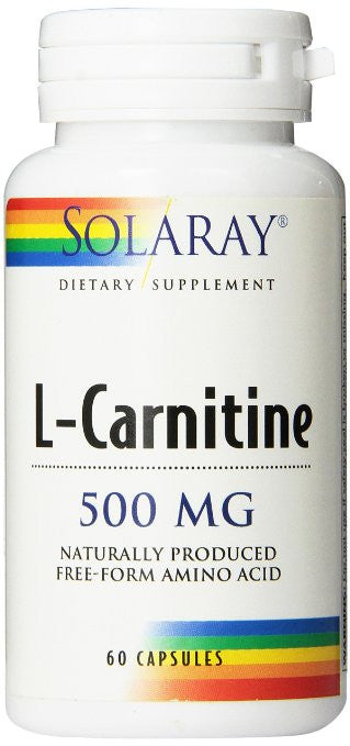 Solaray L-Carnitine Free-Form Capsules, 500mg, 60 Count